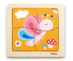 Viga 50136 Handy Flat Puzzle - Butterfly