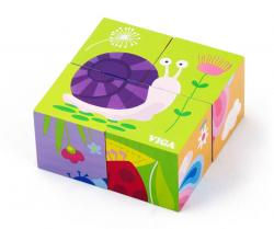 Viga 50160 4pcs 6-side Cube Puzzle - Insect
