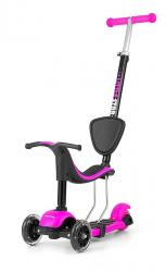 Milly Mally Ride On/Scooter 3in1 Little Star Pink