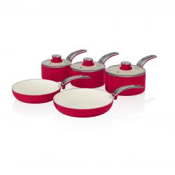 5 Pieces Pan Set RED SWPS5020RN