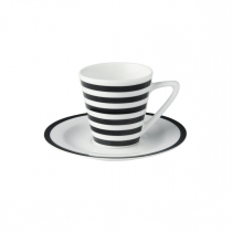 "Dutch Rose Filiżanki do espresso z porcelany - komplet 2 szt. 176552 ""paski"""