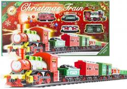 Kolejka christmas train na baterie 430cm